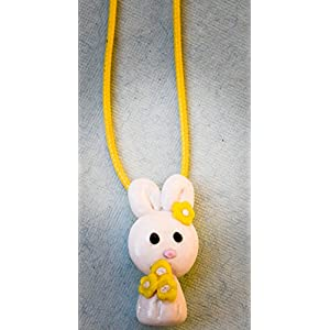 Saakar Polymer Clay Bunny Yellow Necklace