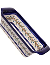 Polish Pottery Ceramika Boleslawiec-1207/166, Bread Meatloaf Baker, 12-3/4 by 5-3/8-Inch