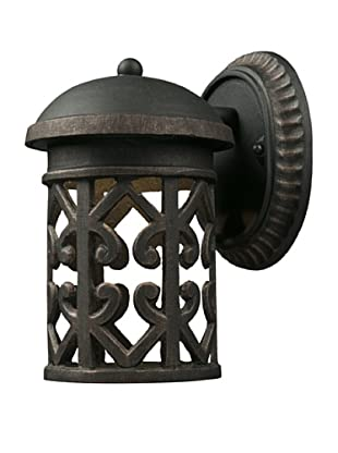 Elk Lighting 42365/1 Tuscany Coast One Light Outdoor Sconce, Weathered Charcoal