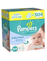 Pampers Softcare Baby Fresh Wipes (7 Packs, 72 Sheets Per Pack)