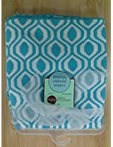 American Baby Company 100% Cotton Sweater Knit Blanket, Aqua Ogee By American Baby Company