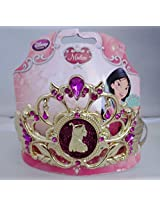 Disney Exclusive Princess Mulan Jewel Girls Golden Tone Tiara Headband Costume