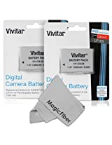 (2 Pack) Vivitar LP-E8 Ultra High Capacity 1300mAH Li-ion Batteries for CANON REBEL T5i T4i T3i T2i, EOS 700D 650D 600D 550D (Canon LP-E8 Replacement)