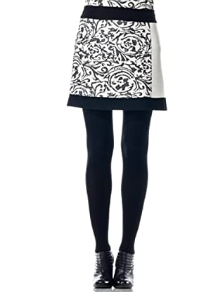 Eccentrica Falda Estampada (blanco/negro)