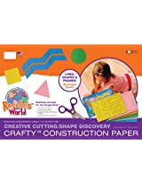 Roselle Crafty Construction Paper Pad, Levels 1 and 2-Inch of Cutting Skills Assortment Pad, 18 x 12 Inches, Assorted Colors, 60 Count (02831-0)