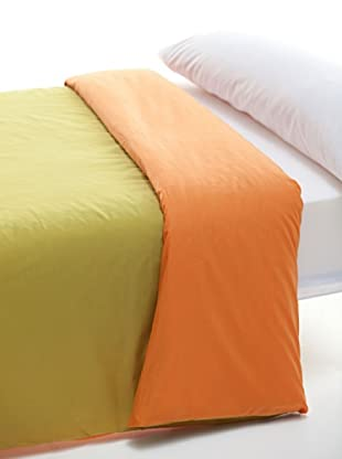 Abecé Funda Nórdica Bicolor (Naranja / Pistacho)