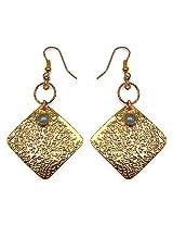 Silver Selection Brass Dangle & Drop Earring For Women (Blue)