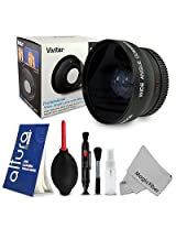 Wide Angle Lens Fisheye for Nikon D5200 D5100 D3200 D3100 D3000 D7000 D7100, 52MM
