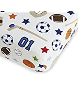 NoJo Fitted Crib Sheet - Sports - Hockey, Football, Soccer, Basketball, Baseball