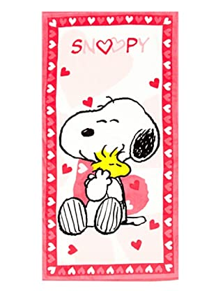 Secaneta  Toalla Playa Snoopy Love (Blanco / Rosa)