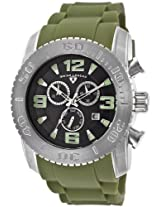 Men'S Commander Chronograph Black Dial Olive Green Rubber (10067-01-Mgrs)