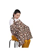 Hiders Premium Cotton Udder Covers - Breast Feeding Nursing Cover (Coffee)