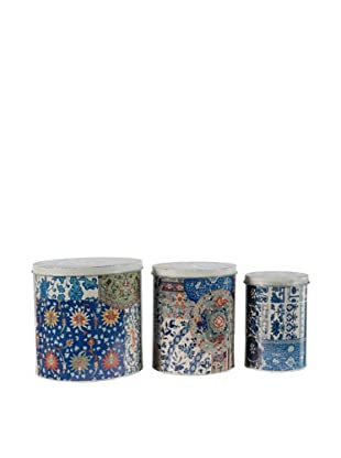 A&B Home Set of 3 Assorted Metal Tins