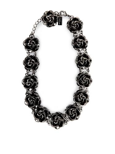 Tuleste Market Rosette Choker Necklace, Gunmetal