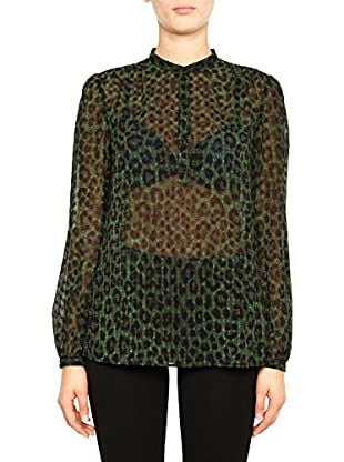 Michael Kors Bluse klassisch Spotted Cheetah