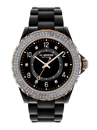 K&BROS 9558-1 / Reloj de Señora  con correa de plástico negro
