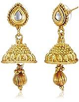 Ava Jhumki Earrings for Women (Golden) (E-VS-1941)