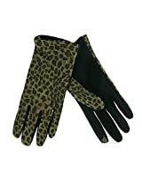 ISO Isotoner Women's Leather Smartouch Touchscreen Compatible Gloves Leopard XL
