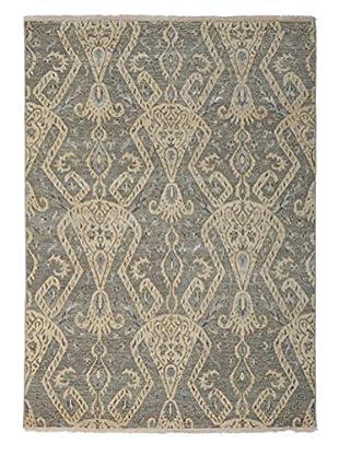 Darya Rugs Ikat Oriental Rug, Light Blue, 5' 2