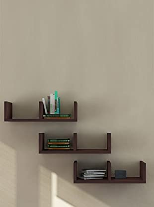 Decortie by Homemania Set 3 Estantes U (Chocolate)
