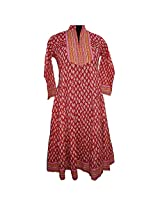 Reednpick Flaired Bottom, Work On Yoke Beautiful Ladies Kurti Orange/Rust