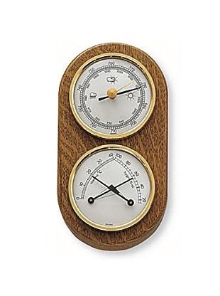Ziel Barometer für Innen Eichenholz