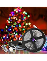 Techyshop 5 meters 3528 SMD Led RGB strip with remote controller