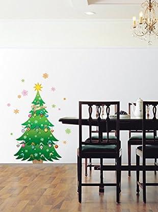 Ambience Live Vinilo Decorativo Christmas tree and stars Multicolor
