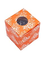 RELIABLE PACKAGING ORANGE PRINTED CUPCAKE BOX/ GIFT BOX/ COOKIES BOX/ CANDY BOX with WINDOW pack of 10