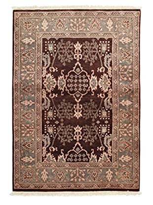 Darya Rugs Traditional Oriental Rug, Brown, 4' 3