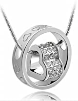 Austrian Crystal Pendant Necklace With Chain For Women by ETERNO FASHIONS