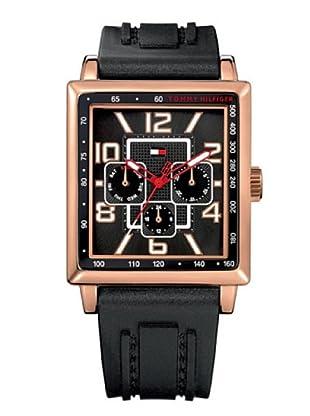 Tommy Hilfiger 1790287 - Reloj de Caballero movimiento de quarzo, correa de piel color negra