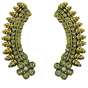 Traditional Ear Cuffs With stone