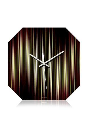 HangTime Designs Lineas Wall Clock (Fire Octa)