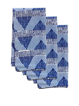 Couleur Nature Set of 3 AeroTea Towels, Indigo
