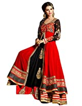 New Designer and Party wear black and red Salwar Suit FA234-9002