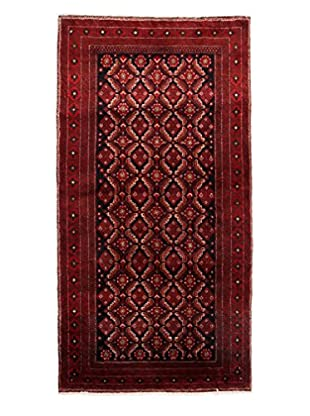 Authentic Persian Baluch Rug, Red, 3' 4