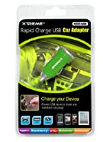 Xtreme 81121-GRN 1 Amp USB Car Charger - Retail Packaging - Green