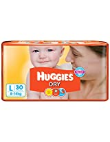 Huggies New Dry Diapers Large - 30 Count