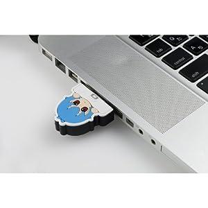 PLANEX 11n ハイパワー150Mbps キャラクターカバーつき無線LAN USBアダプタ(ぷちえゔぁ) GW-USPETIT-EV