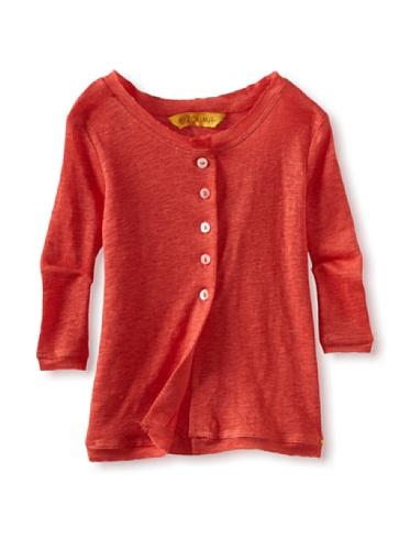Zolima Girl's Cardigan (Papaya Red)