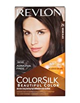 Revlon Colorsilk Hair Color with 3D Color Technology Brown Black 2N, 100g
