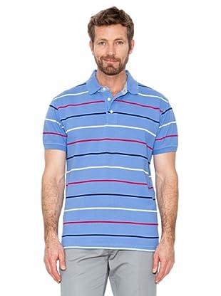 Cortefiel Polo Streifen (Blau)