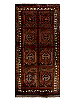 Darya Rugs Tribal One-of-a-Kind Rug, Brown, 4' 10