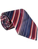 Savile Row Men's Striped Multi-Coloured Tie