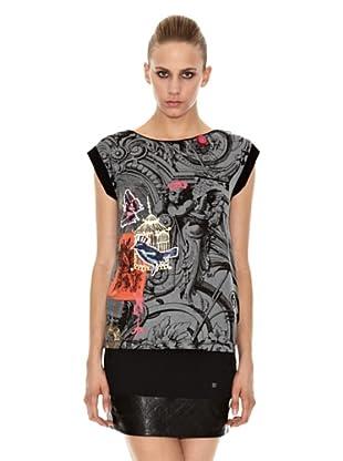 Sidecar Camiseta Carina (Gris / Negro)