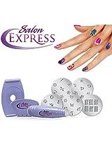 DivineXt Salon Express Nail Polish Art Decoration Stamping Design Kit Decals Paint Stamp