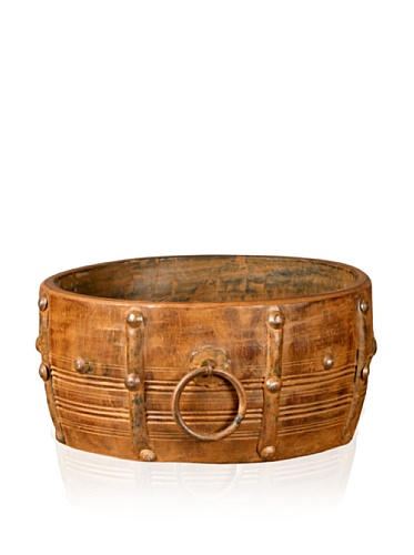 Antique Revival Wooden Bowl with Handle (Rosewood)
