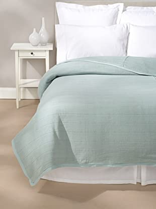 Coyuchi Willow Weave Blanket (Pale Aqua)