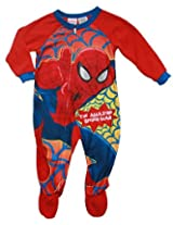 Spiderman Baby-Boys Infant Boys Blanket Sleeper Pajamas (24M)